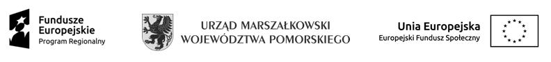 Logotypy unijne: Fundusze Europejskie